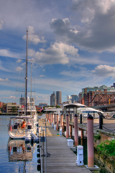 Sailboats in Constitution Marina - Boston