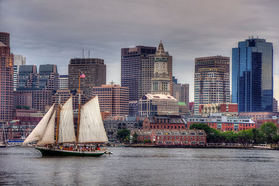 Tall Ships on Boston Harbor