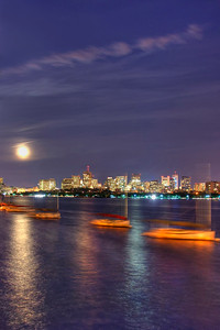 Boston Skyline from Memorial Drive
