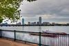 Boston Skyline and Dragon Boats