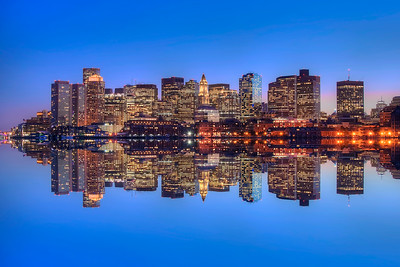 Boston Skyline Reflections