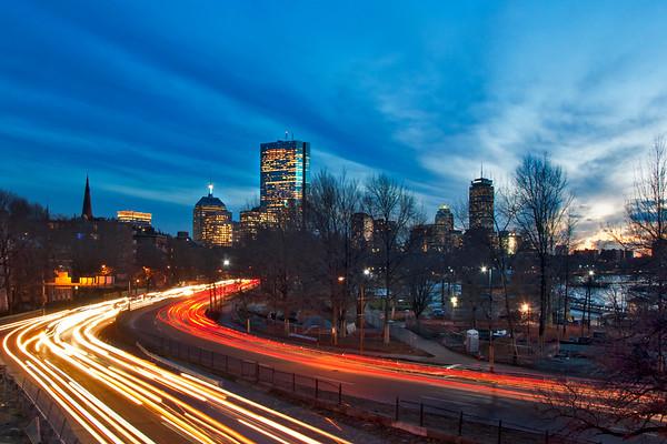 Boston Skyline from Storrow Drive