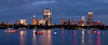 Boston Skyline Panoramic - Blue Nights