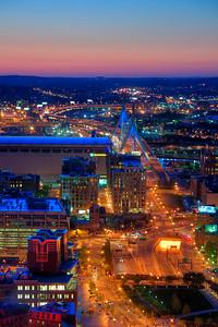 Boston Sunset Aerial View