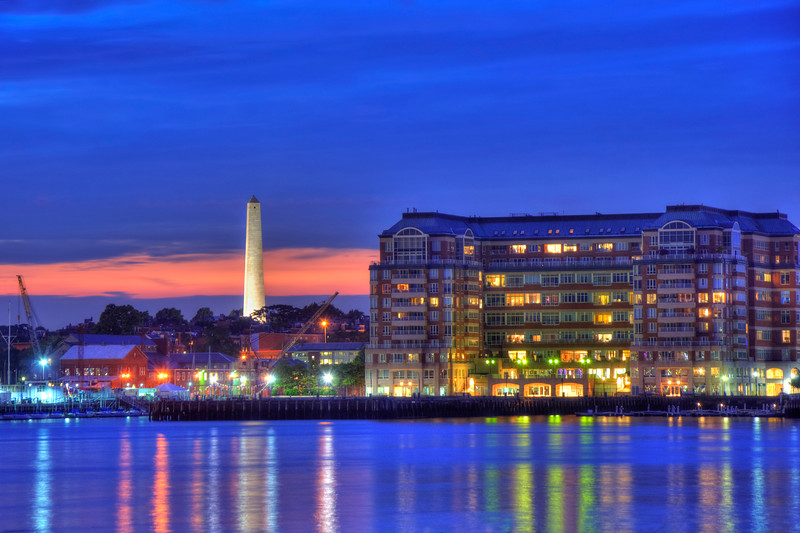 Bunker Hill Monument and Flagship Wharf