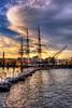 USS Constitution Sunset - Boston
