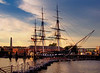 Sunset on Old Ironsides - USS Constitution