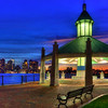 Boston Skyline from Piers Point Park in East Boston at Night.<br /> <br /> Boston Art Photography by Joann Vitali