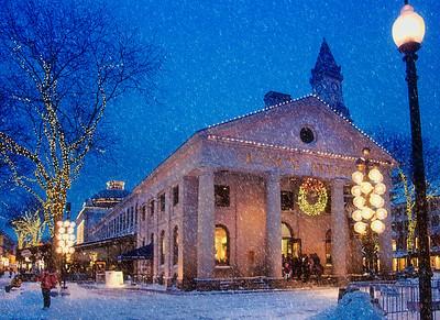 Winter Twilight in Quincy Market