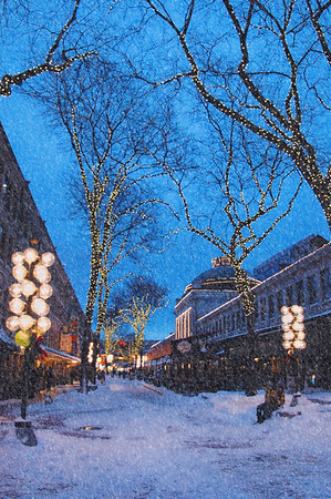 Faneuil Hall Winter Snow