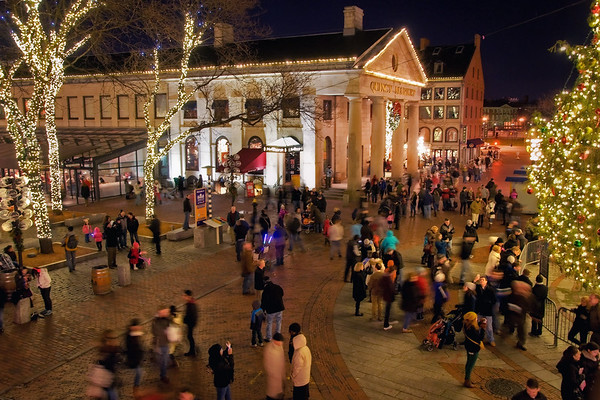 Holiday Bustle - Quincy Market