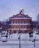 "TO PURCHASE:<br /> <br /> <a href=""http://joann-vitali.artistwebsites.com/featured/faneuil-hall-holidays-joann-vitali.html"">http://joann-vitali.artistwebsites.com/featured/faneuil-hall-holidays-joann-vitali.html</a><br /> <br /> The snow is falling over a deserted Faneuil Hall during the first snowfall of the Holiday season."