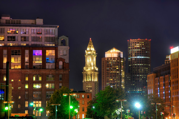 Financial District at Night - Boston
