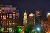Financial District at Night - Boston