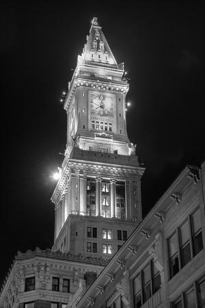 Marriott Custom House in Black and White