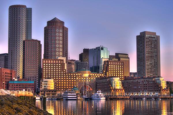 Sunrise Over Boston Harbor 2