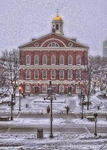 Faneuil Hall Snow Holiday Card