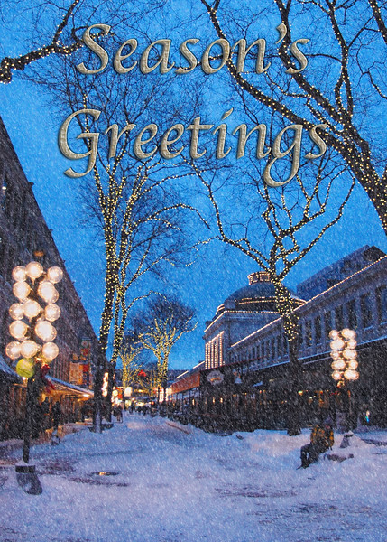 Season's Greetings Boston Christmas Card