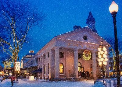 Quincy Market Snowfall Card