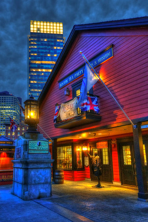 Boston Tea Party Museum at Night