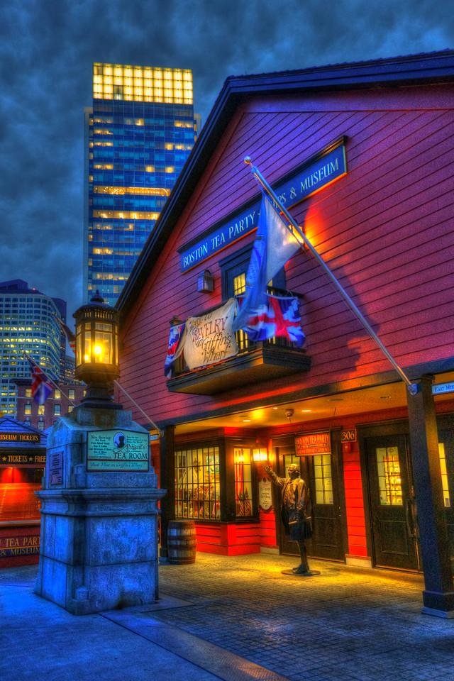 Boston Tea Party Museum at Night
