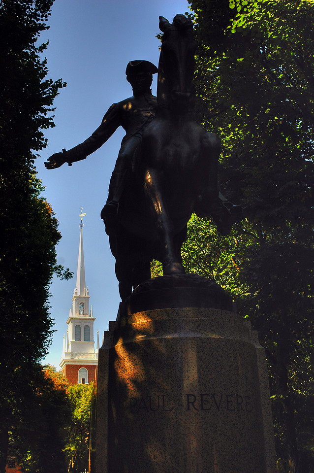 Paul Revere Statue  - Boston