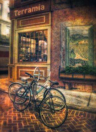 Vintage Bicycles on North End Sidewalk