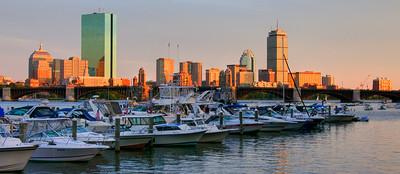Boston Skyline Sunset on the Charles