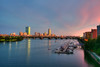 Boston Skyline Sunset and the Charles River