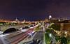 Boston Night Cityscape