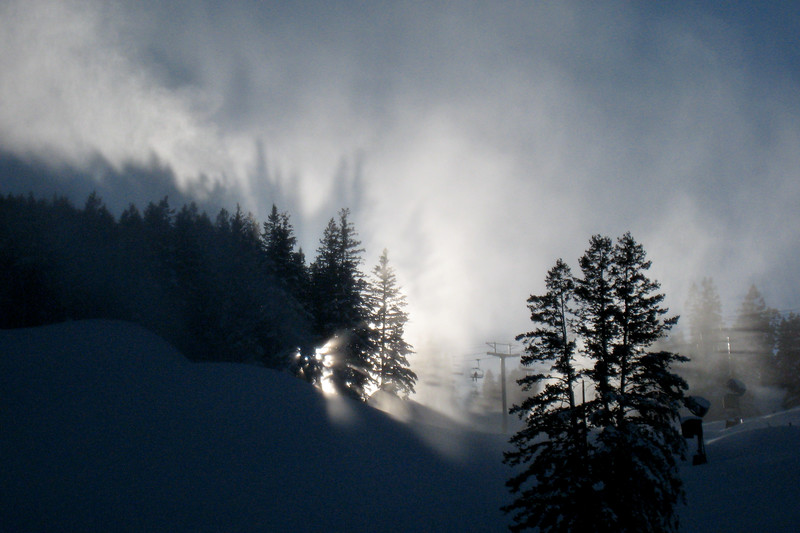 Backlit Snowmaking 0584