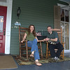 2014-04-11<br /> Us on the front porch of the Holly House B&B