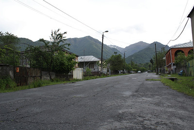 The road towards the entrance of Lagodechi National Park