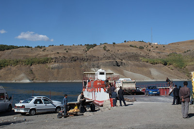 Ferry crossing the lake created by Ataturk Dam