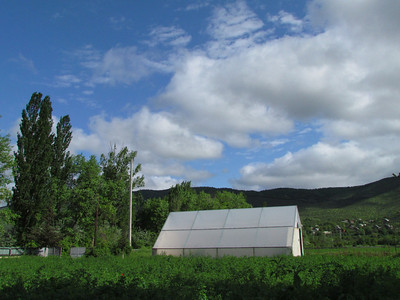 Solar power greenhouse (Environmental office where we stayed during our first night)