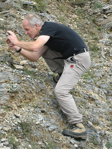 Marijn taking a photograph (Between Litochoro and Prionia at the foot of Mount Olympus)
