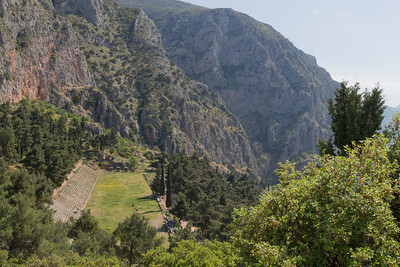The Delphi Stadium, used for athletic events and for music festivals