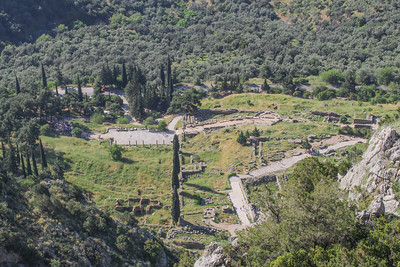 Delphi, photographed from the ancient zig-zag path