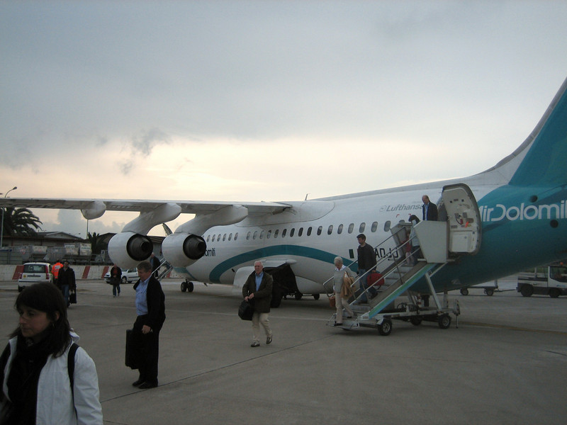 Our plane at Naples Airport