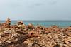 Habitat of Limonium spec., Island Cabrera, view from Cap de ses Salines