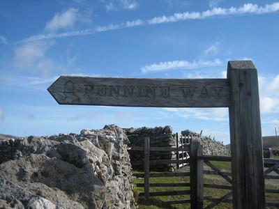 Signpost near Penyghent
