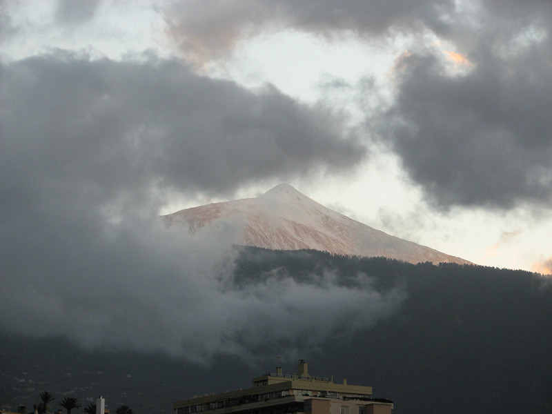 View of Pico del Teide [3718m] from our appartment