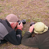Marijn and Kees Jan photographing our first Calceolaria uniflora (photograph by Kok van Herk)