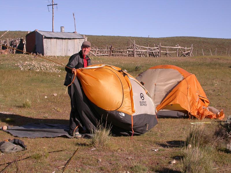 Our campsite between Gobernador Costa and Rio Pico (photograph by Kok van Herk)