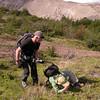 Photographing Chloraea magellanica (photograph by Kok van Herk)