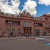 The Casa Rosada, located at the Plaza de Mayo