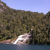Waterfall along Lago Nahuel Huapi, on our way to Puerto Blest (photograph by Kok van Herk)