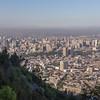 Santiago, photographed from Cerro San Cristóbal (San Cristóbal Hill)