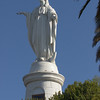 Statue of the Virgin Mary on the top of Cerro San Cristóbal
