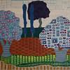 """Plaid Land"" (acrylic on canvas) by Donna Howard"